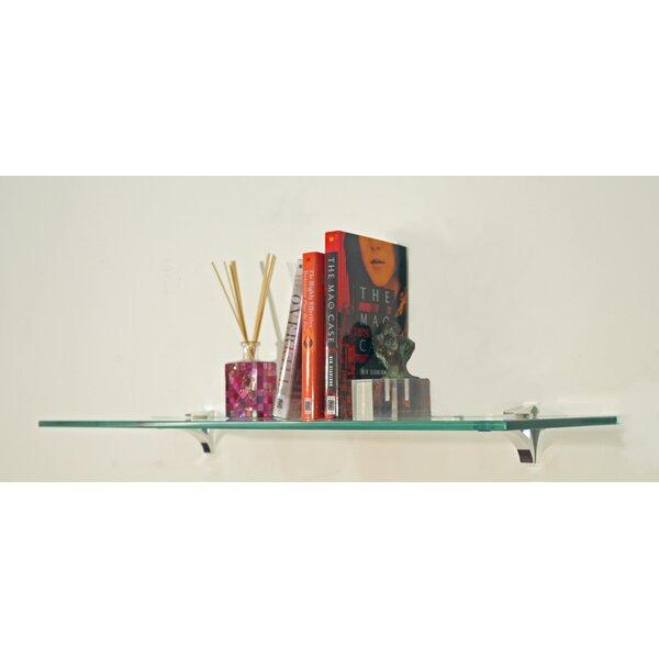 Floating Glass Bathroom Shelf by Spancraft Glass