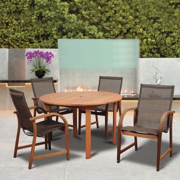Tyrese International Home Outdoor 5 Piece Dining Set by Highland Dunes
