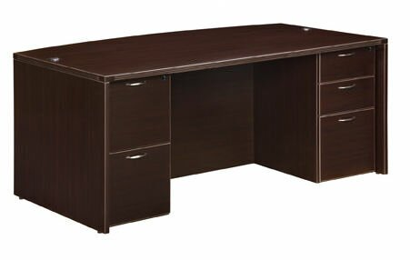 Fairplex Bow Front 5 Drawer Executive Desk by Flexsteel Contract