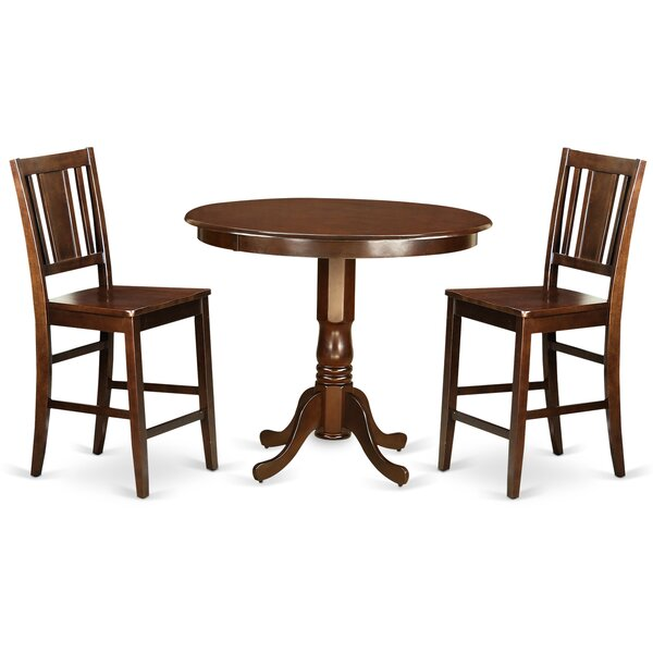 Modern  Trenton 3 Piece Counter Height Pub Table Set By Wooden Importers Cool