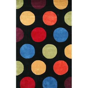Great choice Bright Hand-Tufted Black Area Rug ByAmerican Home Rug Co.