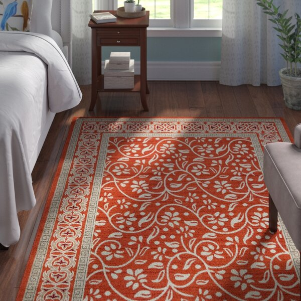 McCabe Rust Red Indoor/Outdoor Area Rug by Andover Mills