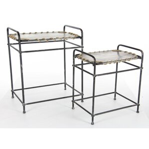 Bartlett 2 Piece Metal Rope Nesting Tables by Longshore Tides