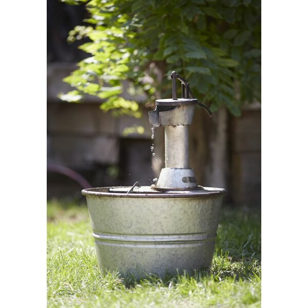 Fountain with Metal Bucket by Melrose International