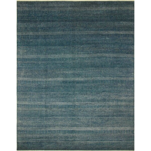 One-of-a-Kind Cathrine Hand Knotted Wool Blue Area Rug by Isabelline