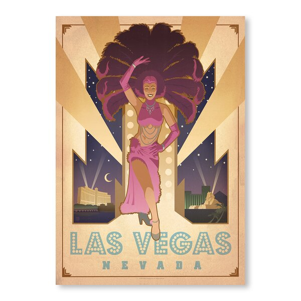 Las Vegas Showgirl Vintage Advertisement by East Urban Home