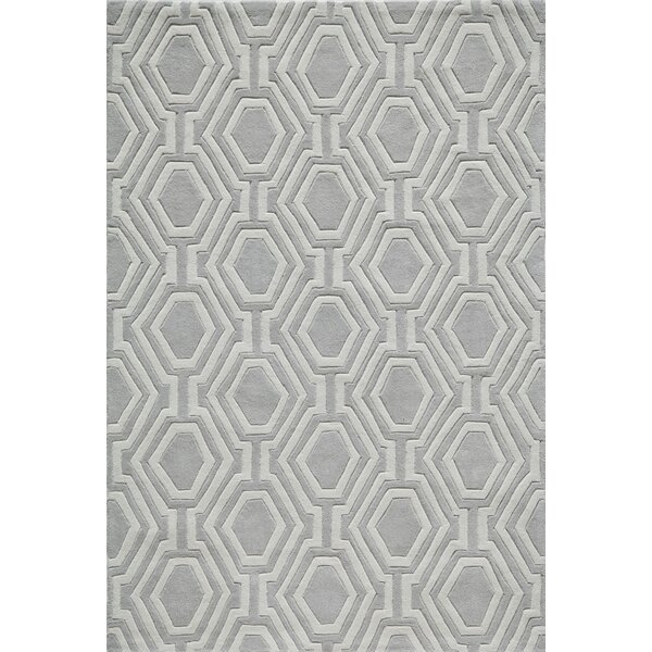 Wills Hand-Tufted Gray Area Rug by Wrought Studio