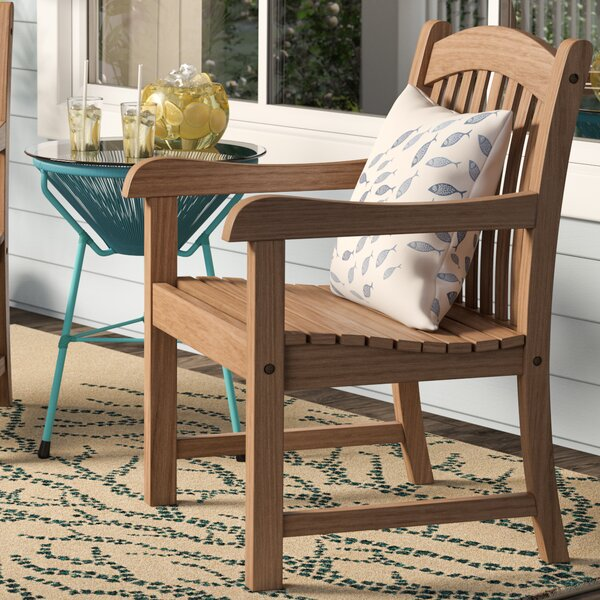 Elsmere Stacking Teak Patio Dining Chair (Set of 2) by Beachcrest Home