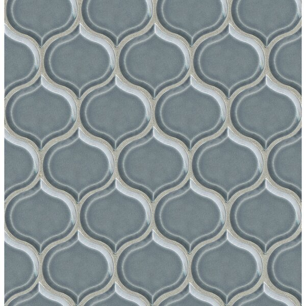 Park Place Lantern Mosaic Tile in Blue by Grayson Martin