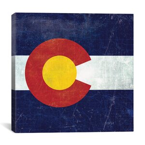 Colorado Flag, Map Graphic Art on Canvas by iCanvas