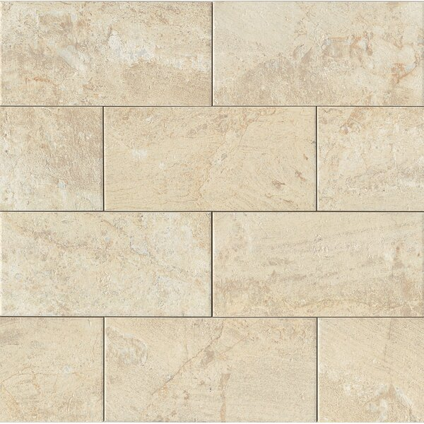 Classic Moderne 6 x 12 Porcelain Mosaic Tile in Crème by Grayson Martin
