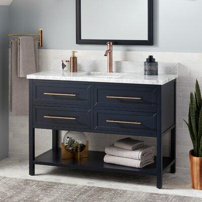 Signature Hardware Marble Single Bathroom Vanity Set Vanities