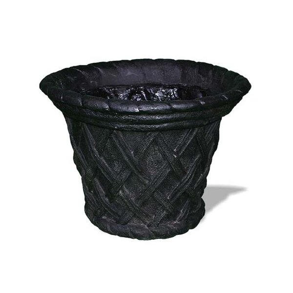 Basket Weave Resin Stone Pot Planter by Amedeo Design