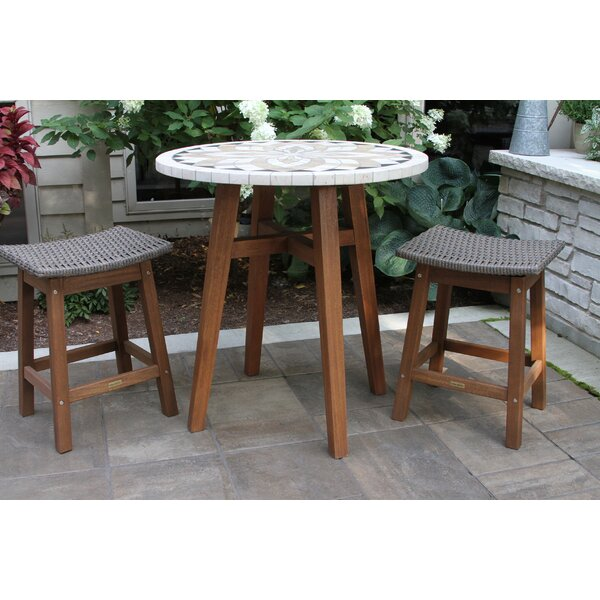 Jeffers 3 Piece Bistro Set by Alcott Hill