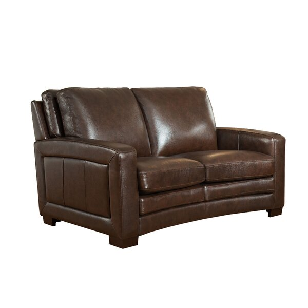 Review Theodora Craft Leather Loveseat