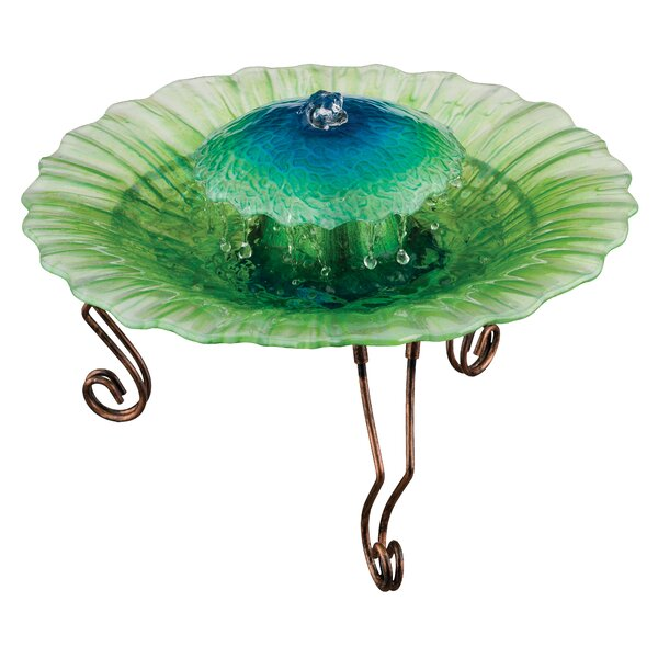 Glass Seafoam Water Fountain by Regal Art & Gift
