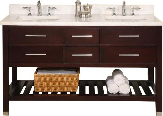 Priva 60 Open Double Bathroom Vanity Base Only