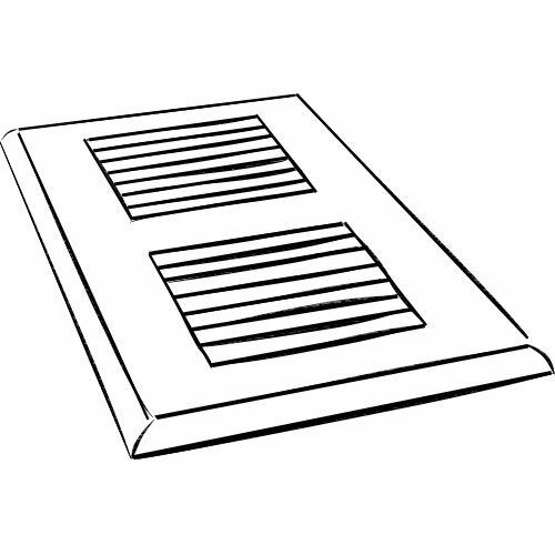 4 x 10 Ash Surface Mount Vent Cover by Moldings Online