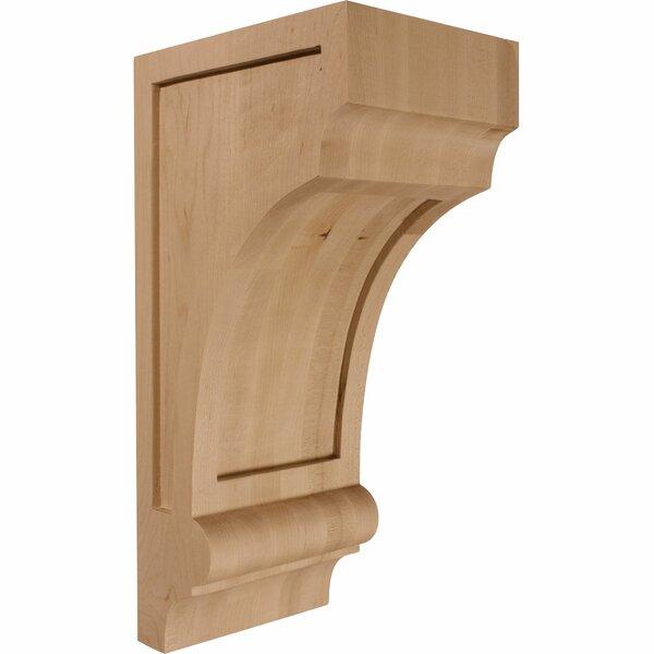 Diane 14H x 5 1/2W x 7D Recessed Wood Corbel in Rubberwood by Ekena Millwork