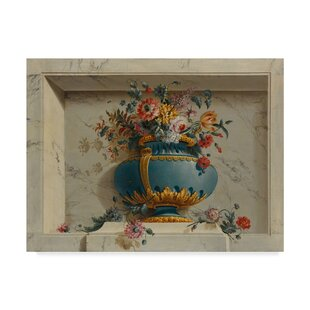 Vase Of Flowers In A Niche 1763 79 Graphic Art Print On Wred Canvas