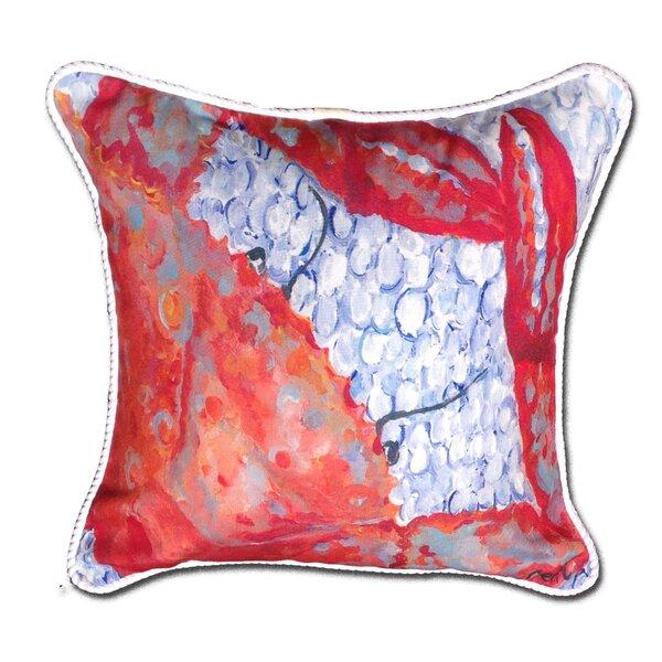 Crab Indoor/Oudoor Throw Pillow by My Island
