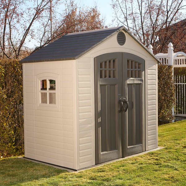 7 ft. 8 in. W x 4 ft. 8 in. D Plastic Vertical Storage Shed by Lifetime