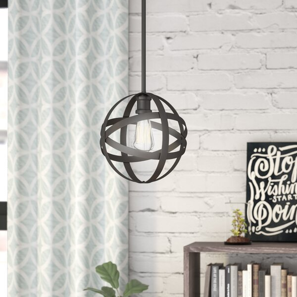 Prange 1-Light Globe Pendant by Wrought Studio