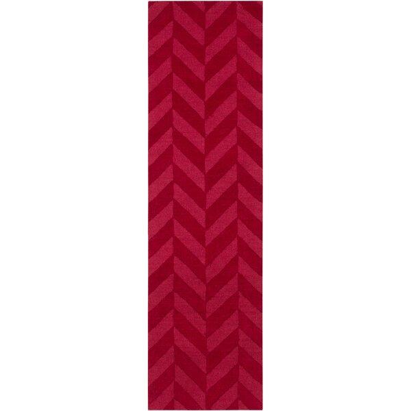 Sunburst Handwoven Wool Red Area Rug by Greyleigh