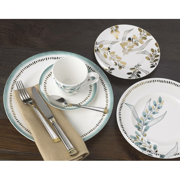 Goldenrod Bone China 5 Piece Place Setting, Service for 1 by Lenox