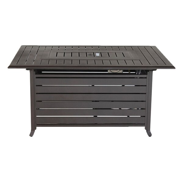 Barre Aluminum Propane Fire Pit Table by Breakwater Bay