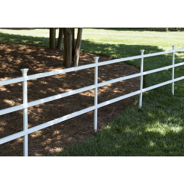 3 ft. H x 7.5 ft. W Westchester Semi-Permanent Ranch Fence Panel (Set of 2) by Zippity Outdoor Products