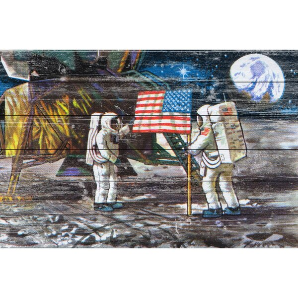 Moon Landing Graphic Art on Wood by Marmont Hill