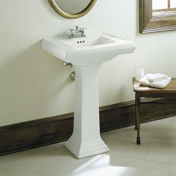 Memoirs® Ceramic 24 Pedestal Bathroom Sink with Overflow by Kohler
