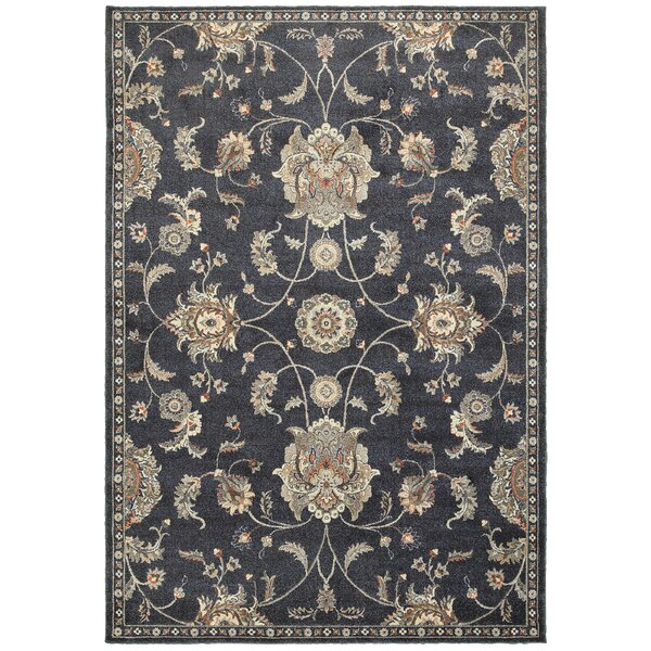 Meidinger Casual Traditional Blue Area Rug by Charlton Home