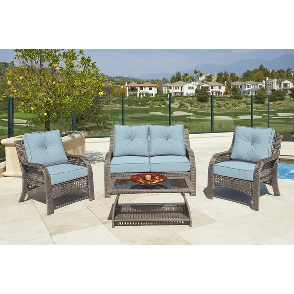 Astin 4 Piece Sofa Seating Group with Cushions by Darby Home Co