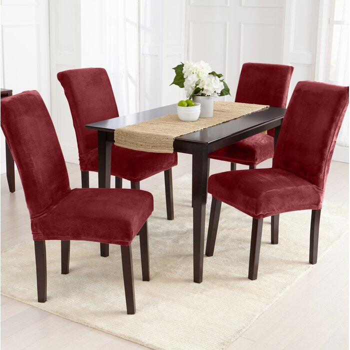 Swell Velvet Plush Dining Chair Slipcover Machost Co Dining Chair Design Ideas Machostcouk
