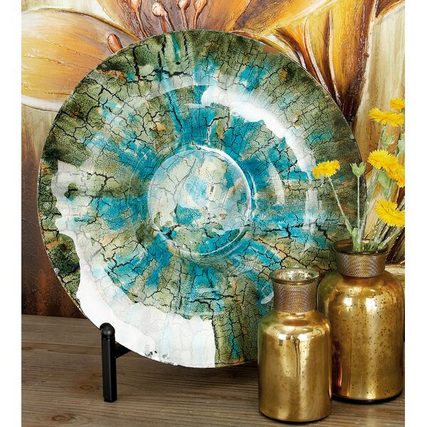 Round Glass Charger by World Menagerie