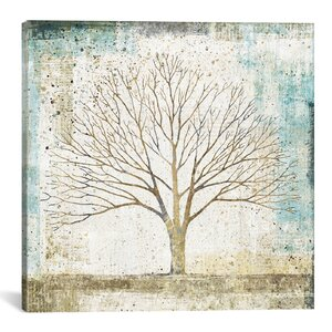 'Solitary Tree Collage' Painting Print on Wrapped Canvas by East Urban Home