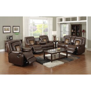 Alisija 3 Piece Faux Leather Reclining Living Room Set by Ebern Designs