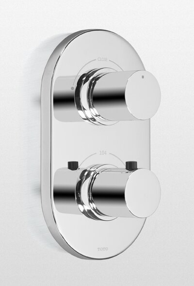 Nexus Thermostatic Mixing Valve Trim with Dual Volume Control by Toto