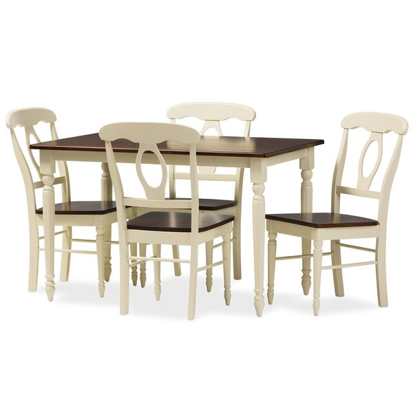Delmi 5 Piece Dining Set by Highland Dunes