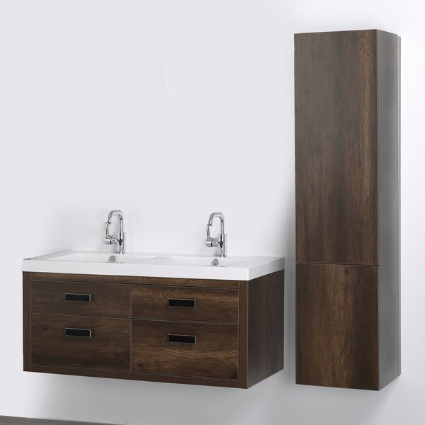 47 Wall Mounted Double Bathroom Vanity Set by Streamline Bath
