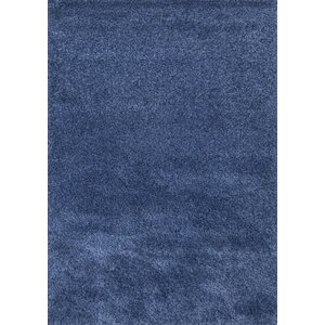 Super Shaggy Blue Area Rug