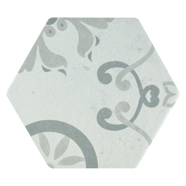 Hara Hex 5.88 x 6.75 Porcelain Field Tile in Trium by EliteTile