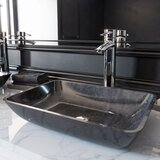 Gray Onyx Handmade Rectangular Vessel Bathroom Sink by VIGO