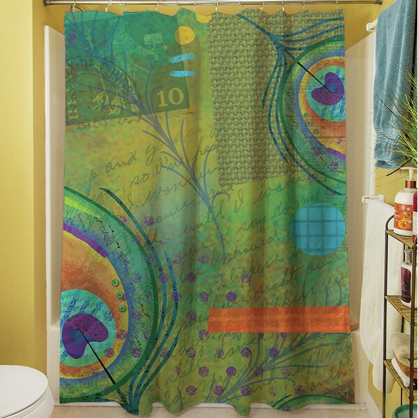 Peacock Shower Curtain by Manual Woodworkers & Weavers