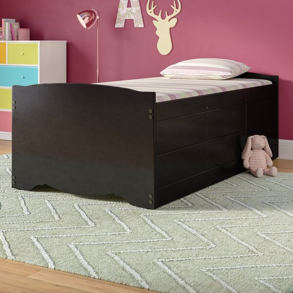 Rosenthal Twin Captain Bed with Storage by Viv + Rae