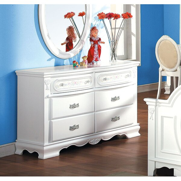 Egbert 6 Drawer Double Dresser by Harriet Bee