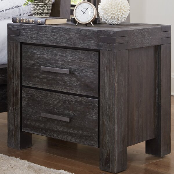 Palo Alto 2 Drawers Nightstand by Loon Peak