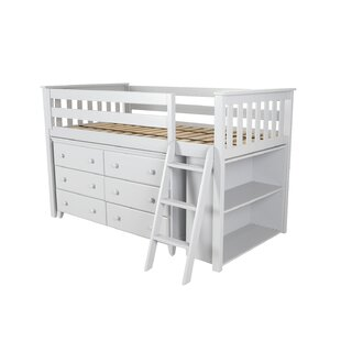 Ginny Twin Loft Bed with Dresser and Bookcase By Harriet Bee